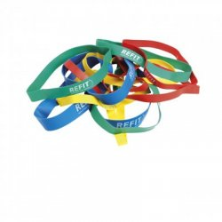 RUBBER BAND HÅRD, BLÅ 10-PACK